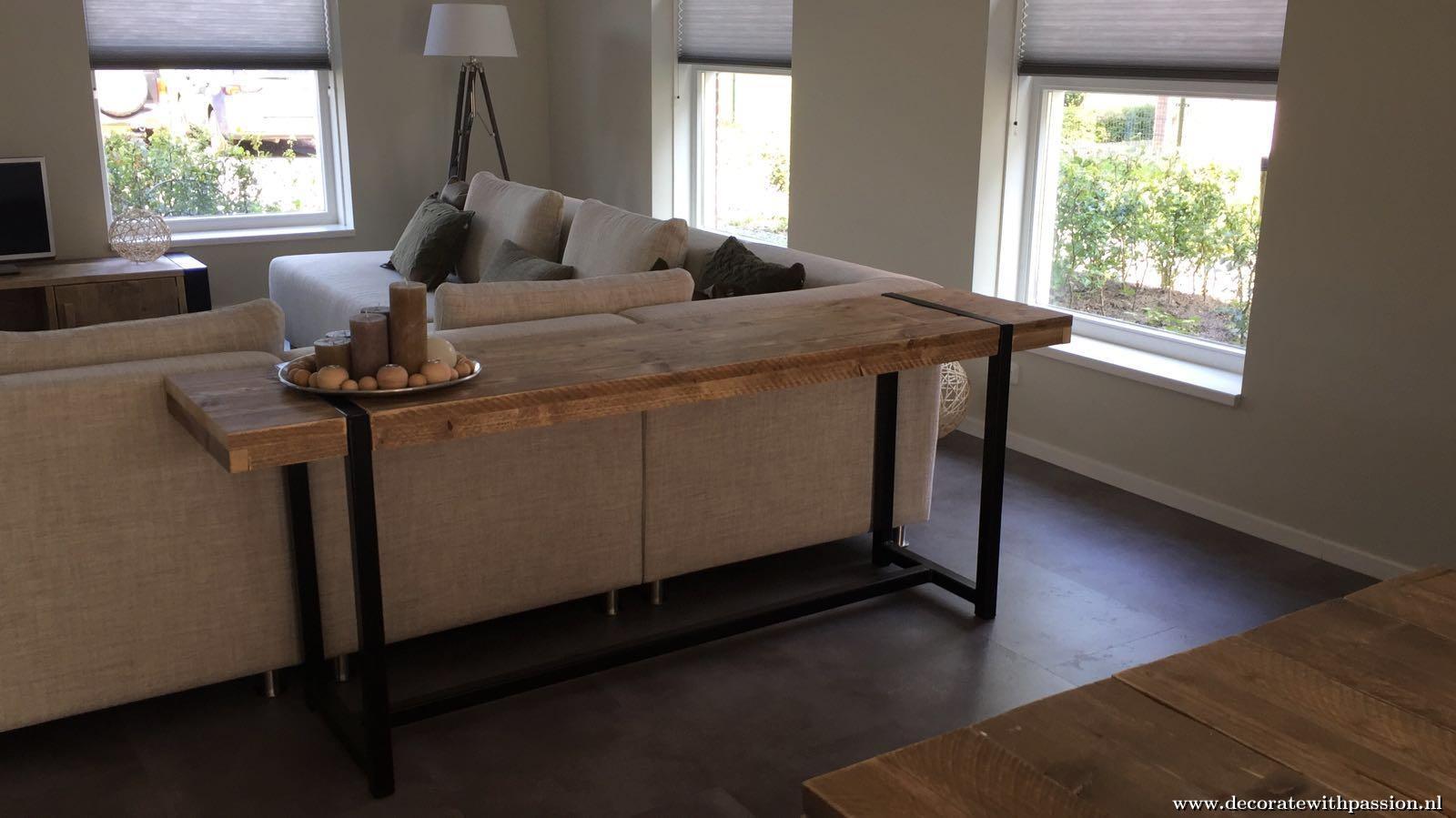 Sidetable Met Bankje.Industriele Side Table Hoornaar Dercorate With Passion