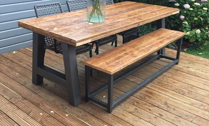 Uw steigerhouten meubelen laat u maken door decorate with for Bankje steigerhout zelf maken